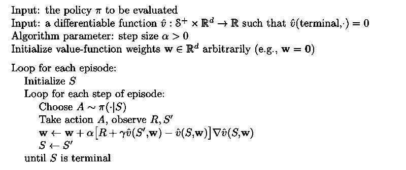 Semi-gradient TD(0)