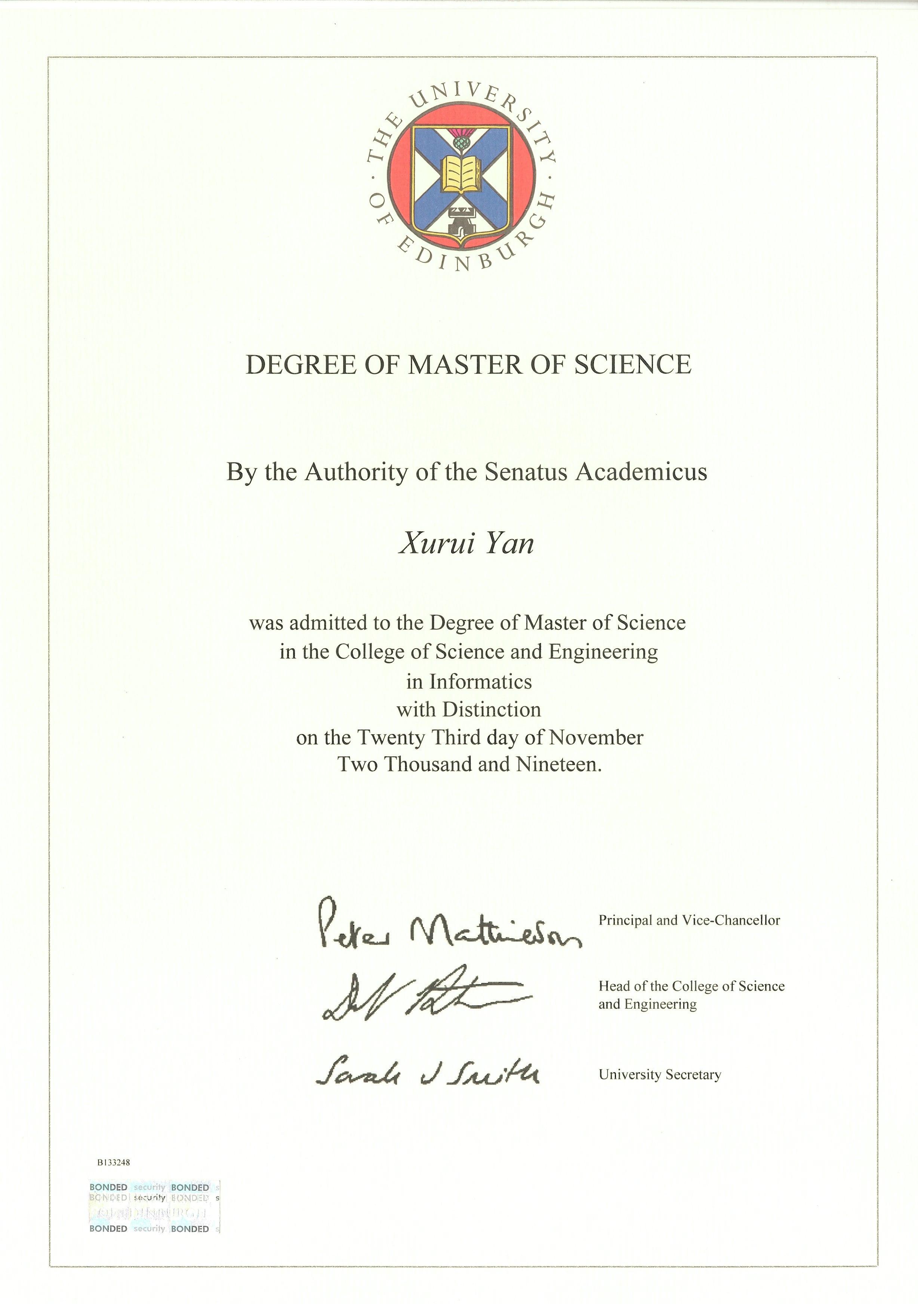 一张价值40万的毕业证书