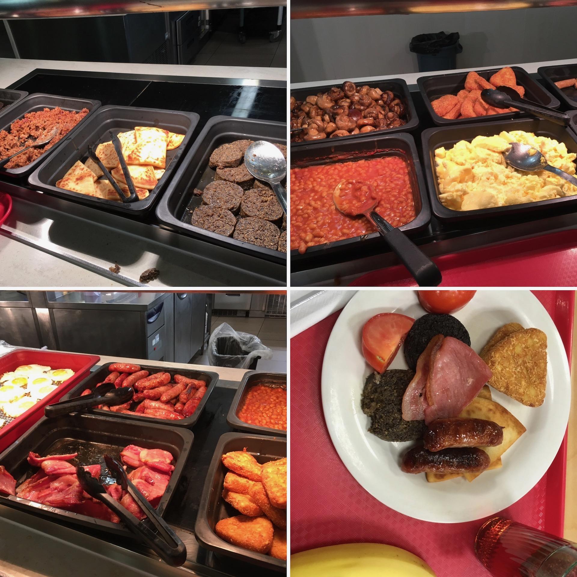 食堂提供的全英早餐