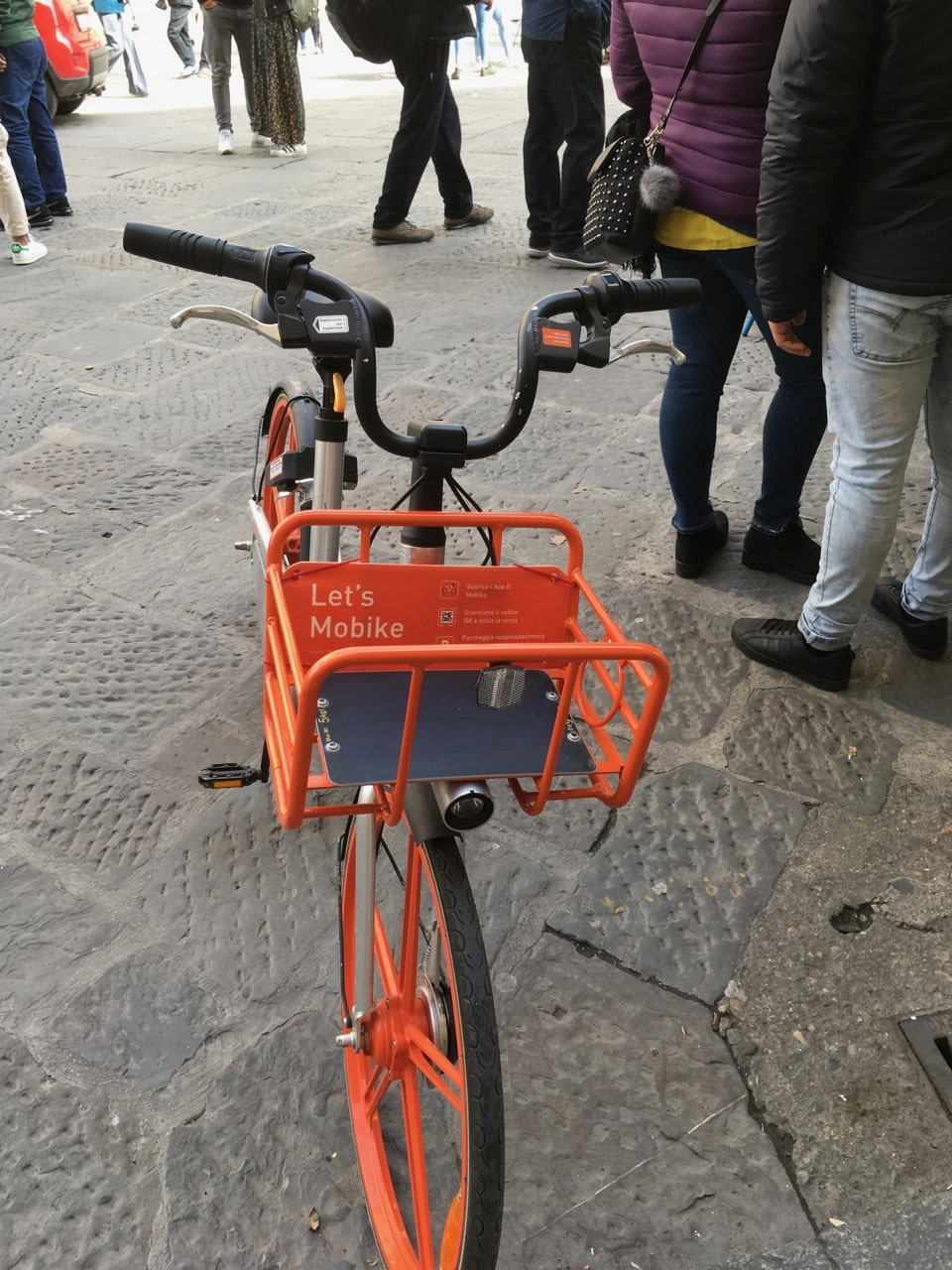 惊现摩拜共享自行车,好亲切