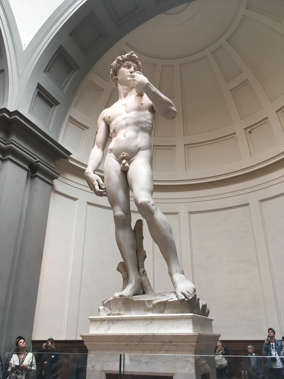 米开朗基罗的大卫像,众人来这个美术馆膜拜的对象