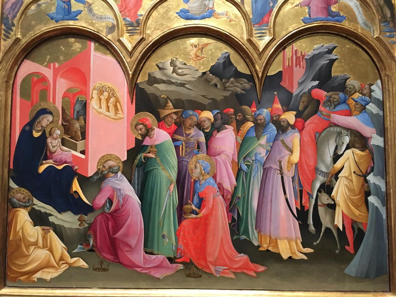 罗伦佐·摩纳科的《三博士来朝》,1421