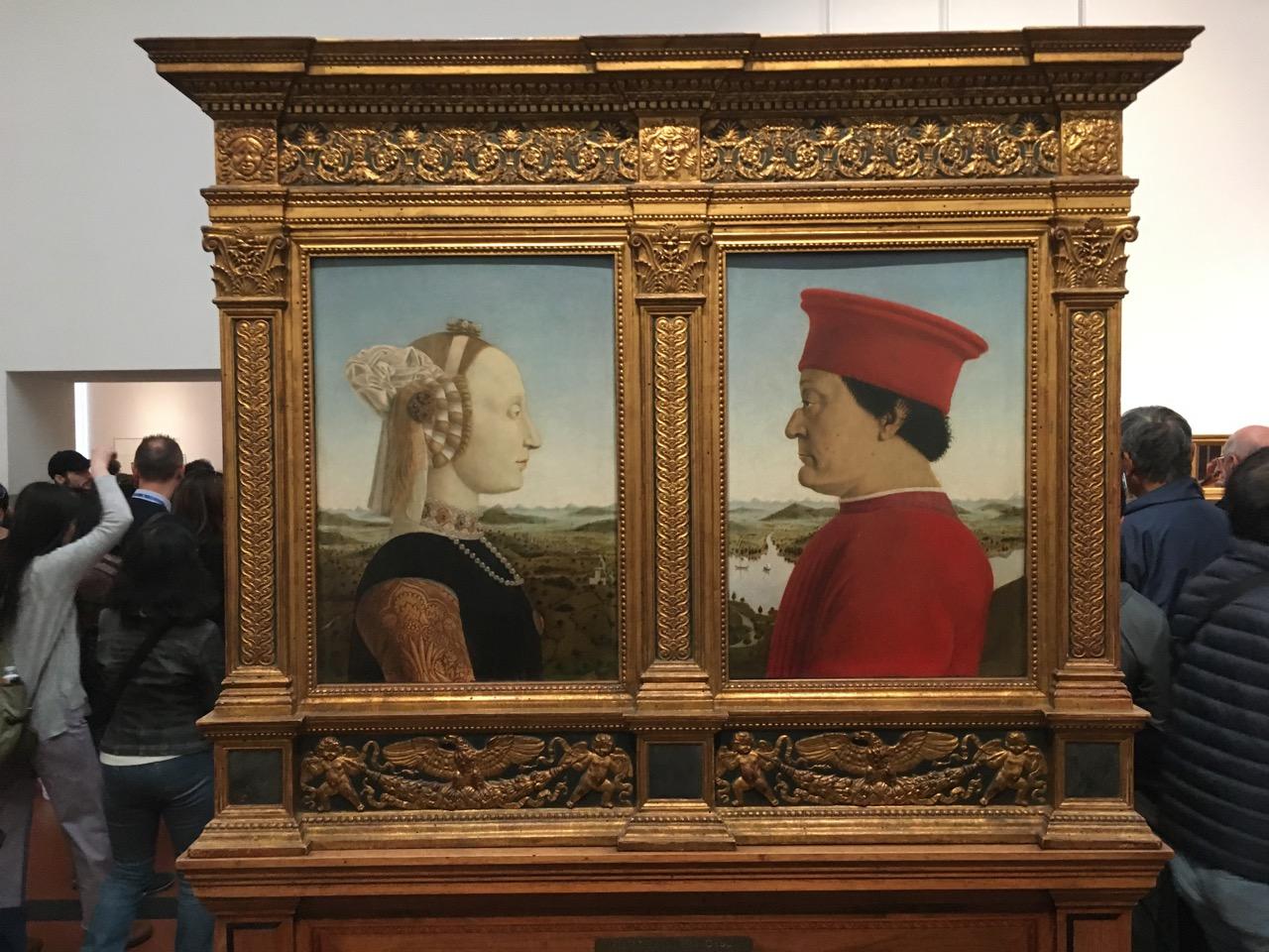 皮耶罗·德拉·弗朗切斯卡的《乌尔比诺公爵双联画》,1472