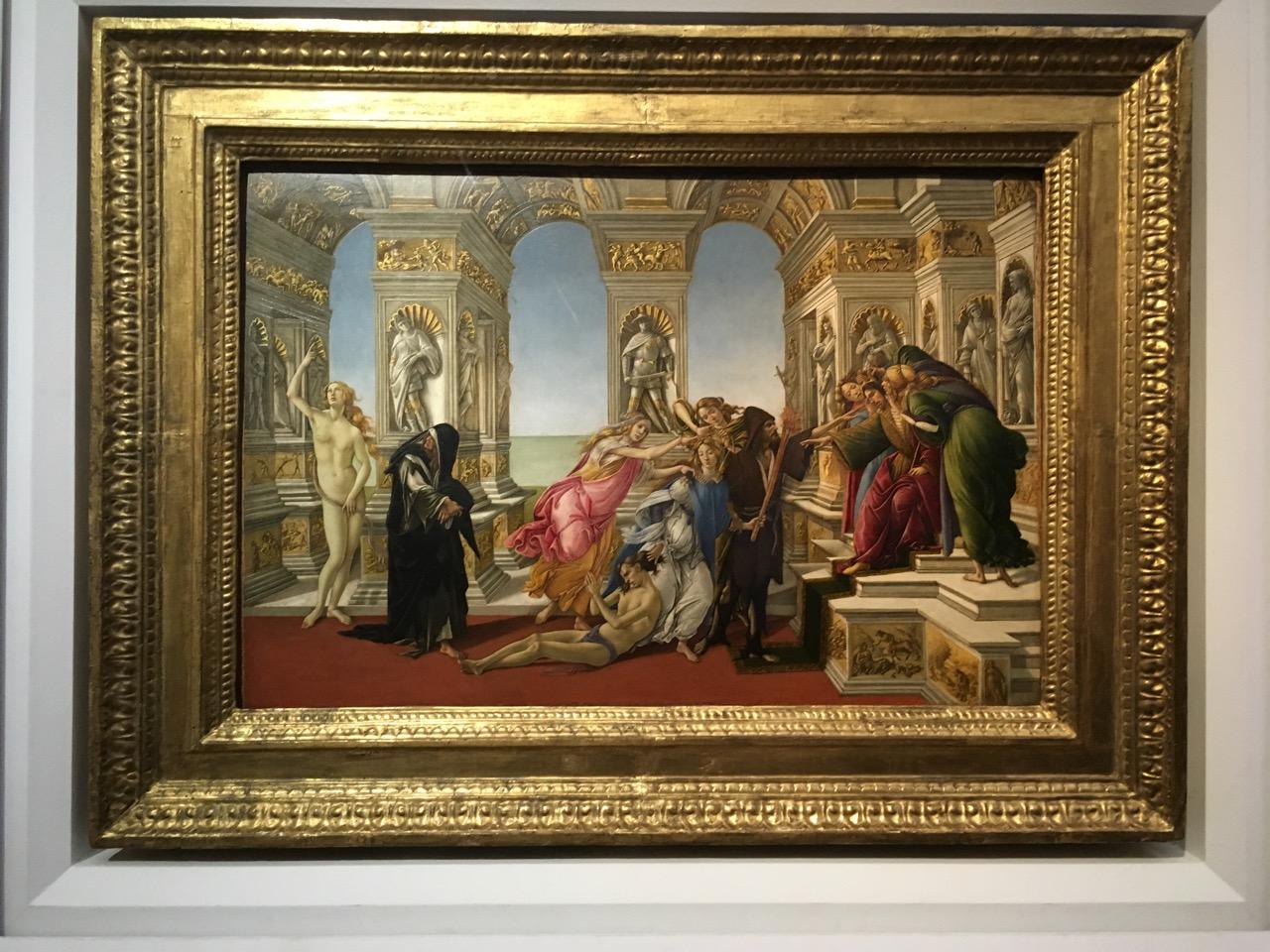 桑德罗·波提切利的《诽谤 (波堤切利)》,1495