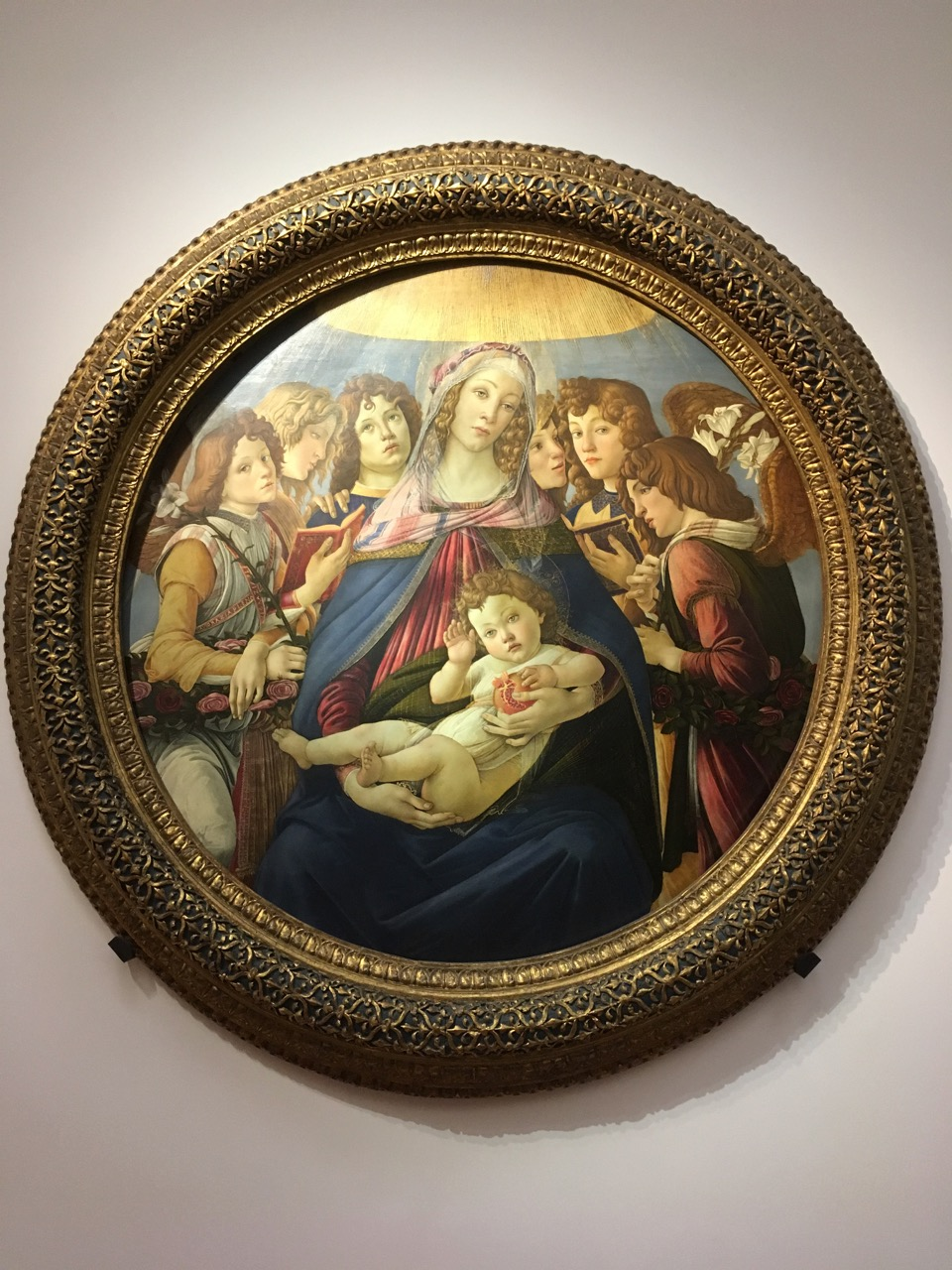 madonna of the pomegranate by botticelli