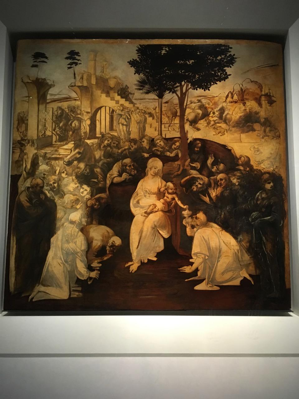 达芬奇的《东方三圣来朝》,1481