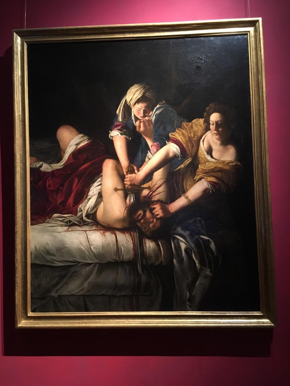 阿尔泰米西娅·真蒂莱斯基的《犹迪割下赫罗弗尼斯的头颅》,1620