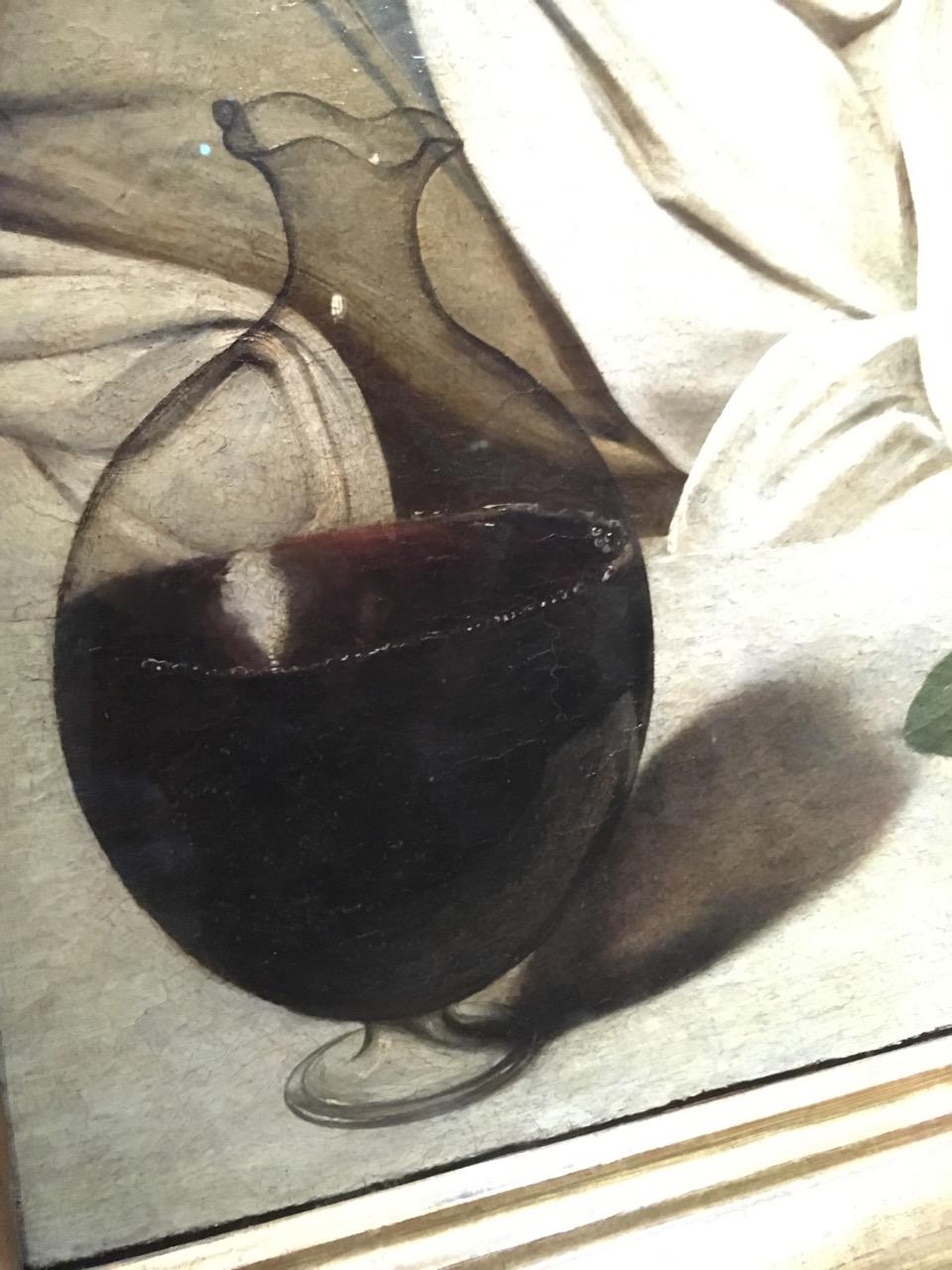酒神的酒杯上有画家的自画像