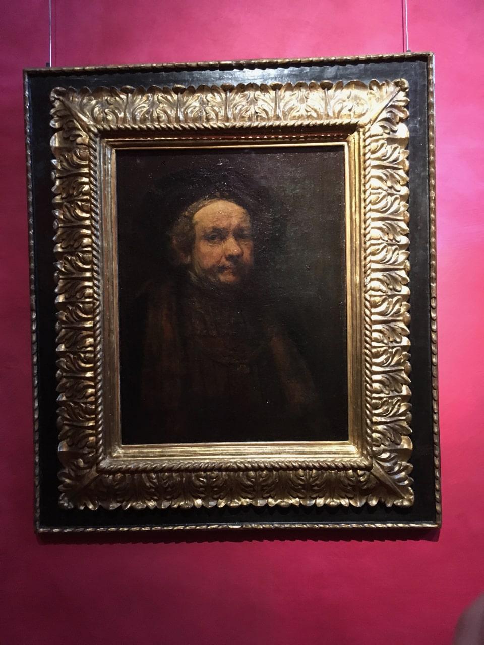荷兰画家伦勃朗的《自画像》,值得一提的是他有很多的自画像,1669