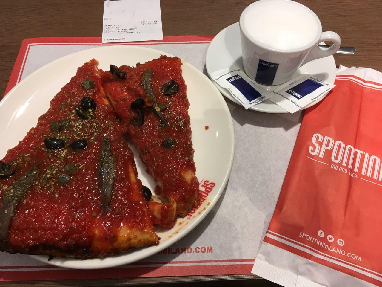 spontini的披萨号称是意大利最好吃的披萨。我成为离火车站比较近的这家spontini当天的第一个顾客,点了份地中海(mediterranea)风味的披萨,结果,太难吃了吧,又酸又苦,可能是我点的口味不对,我记得攻略上说这家披萨店只有一种口味的啊,看来还得再试一次