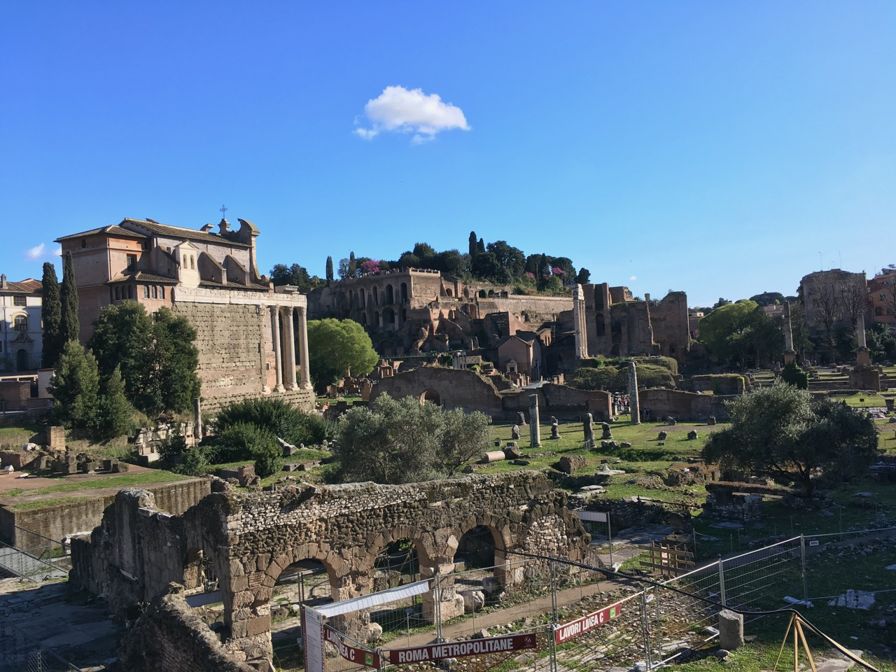 俯瞰古罗马广场