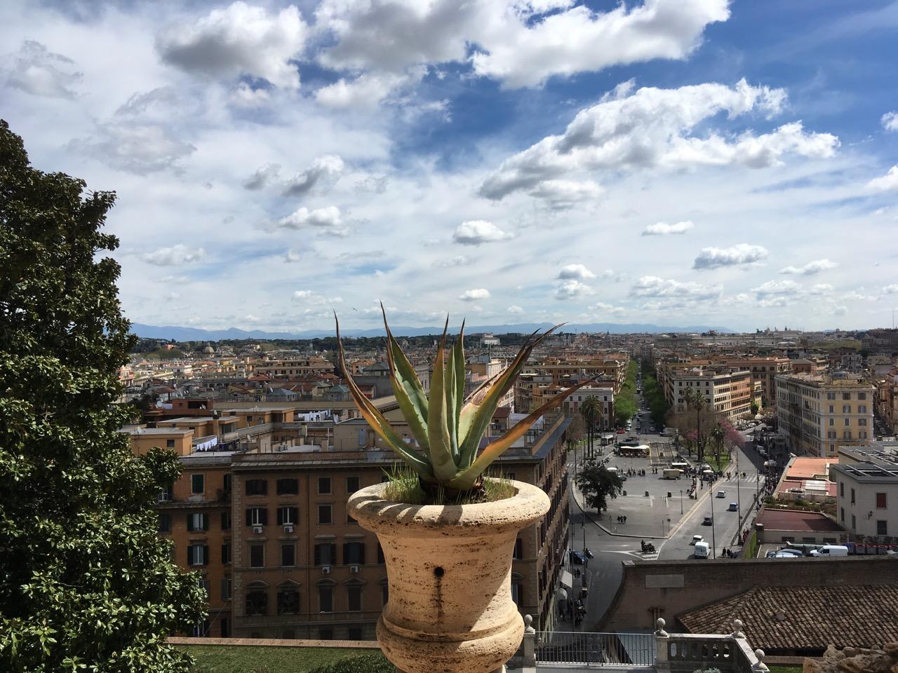 从窗户眺望梵蒂冈城