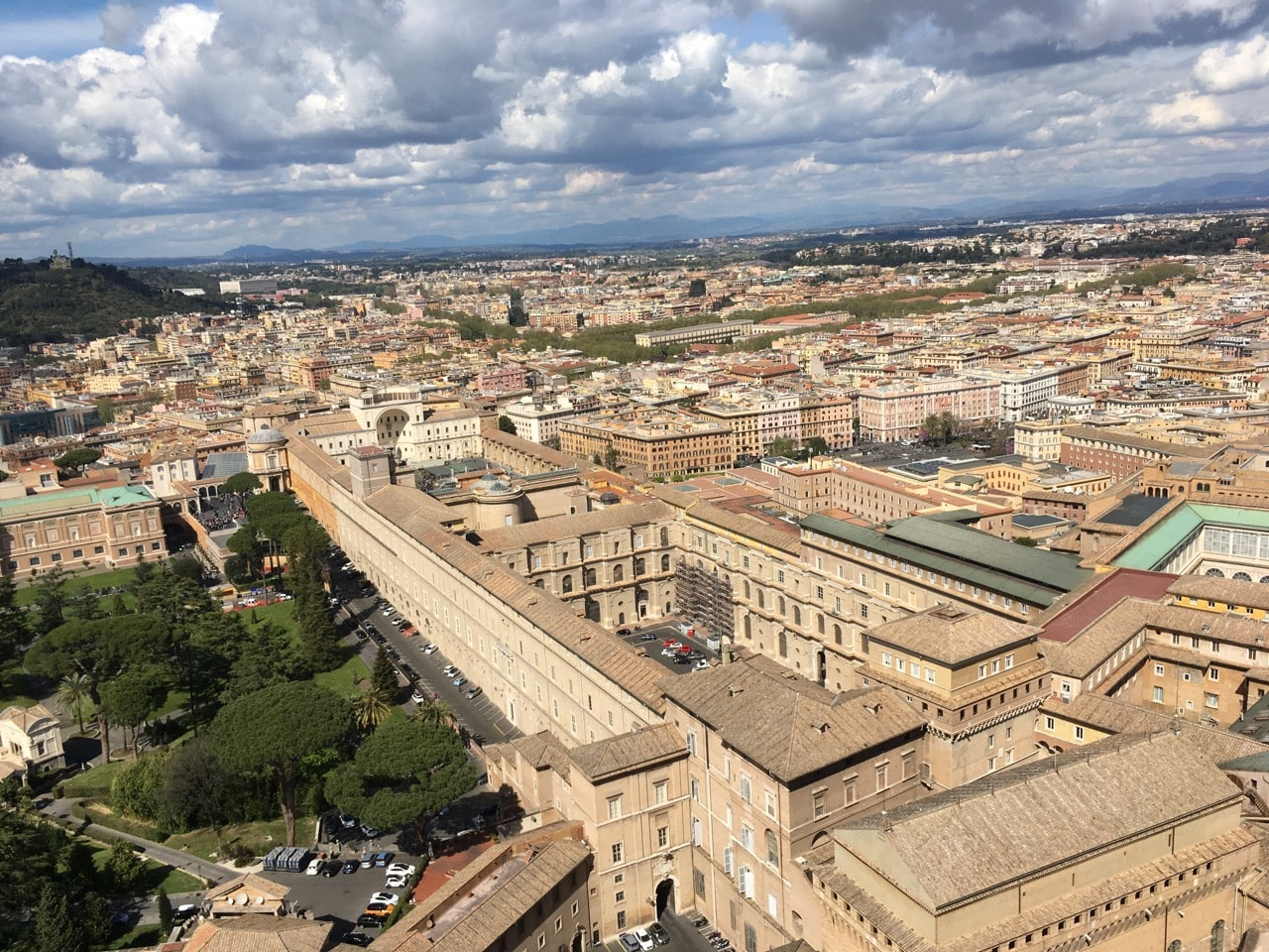 俯瞰梵蒂冈博物馆