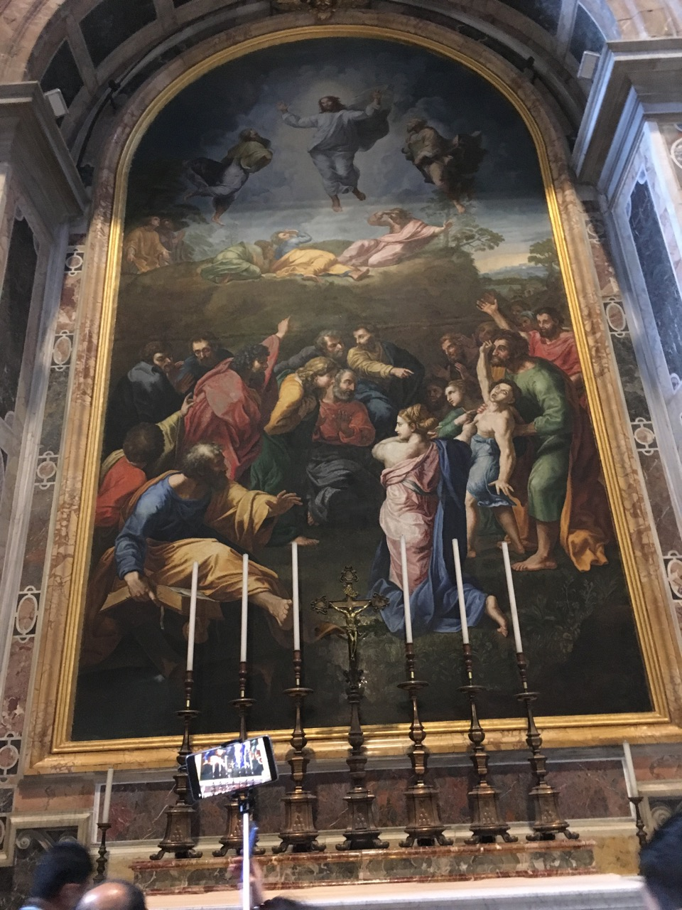 精美的油画《主显真容》