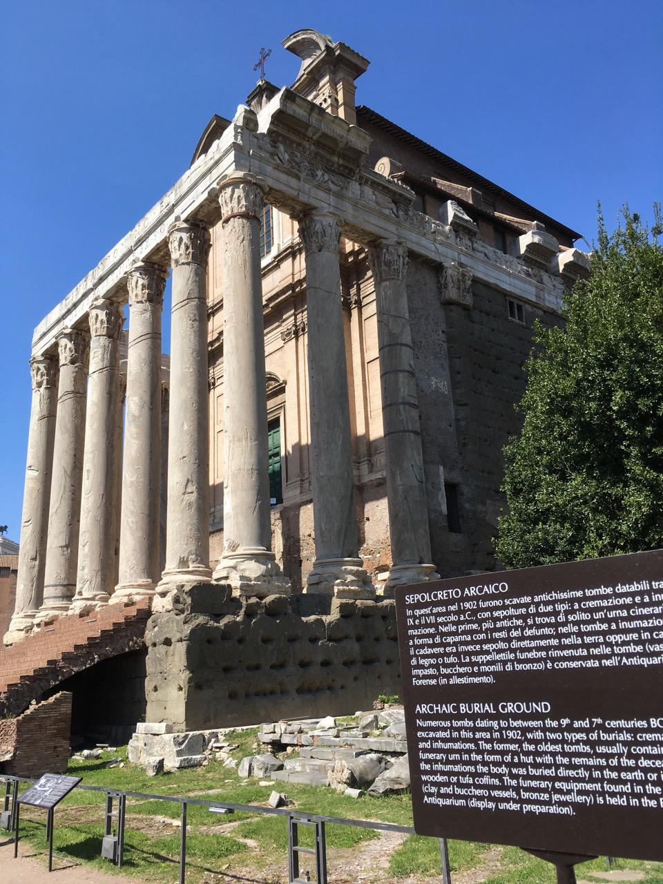安东尼诺和佛丝蒂纳神庙,保存最好的神庙