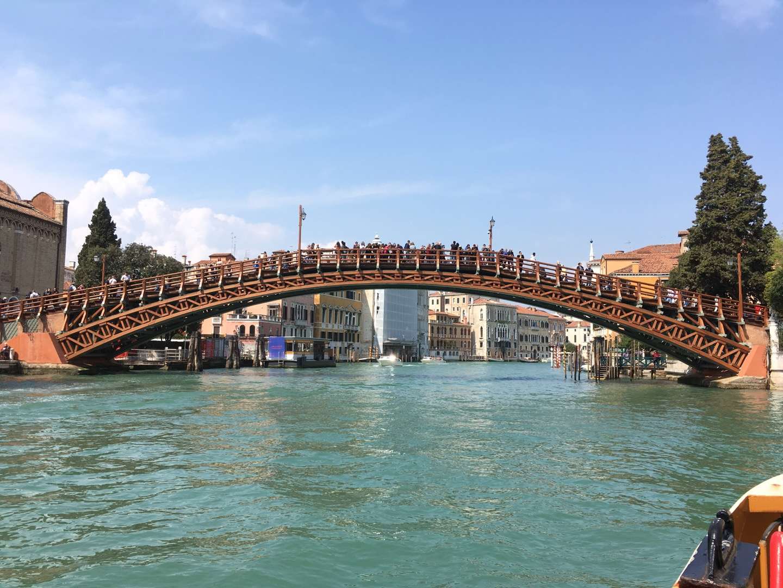学院桥(Ponte dell'Accademia),是一座木桥,大运河上另一座著名的桥