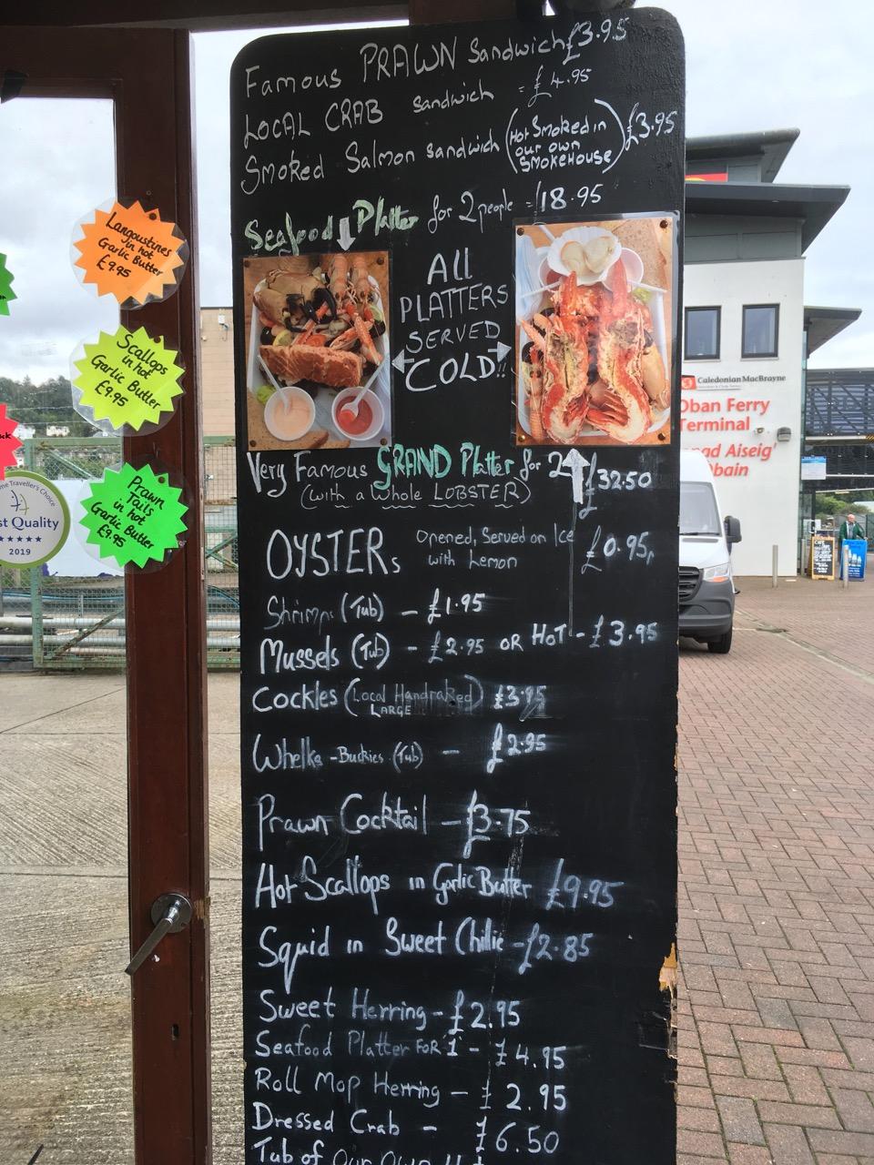 Seafood Hut 菜单