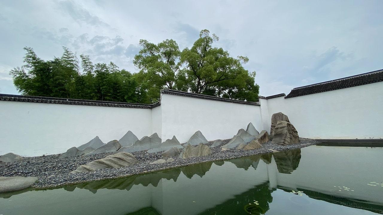 苏州博物馆最受欢迎的背景墙